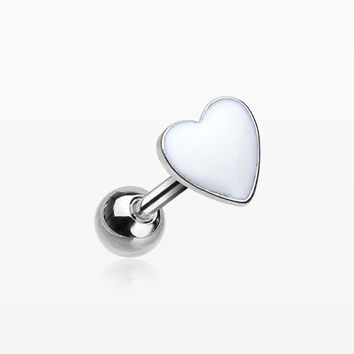 Adorable Heart Cartilage Tragus Barbell