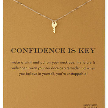 Sparkling Key gold plated Pendant necklace Key Fashion Clavicle Chains Statement Necklace For Women Jewelry