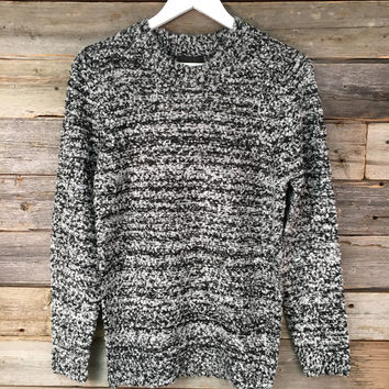 BOUCLÉ SWEATER TOP - H.GREY