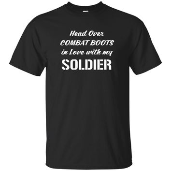 Head Over Combat Boots in Love with my Soldier t-shirt