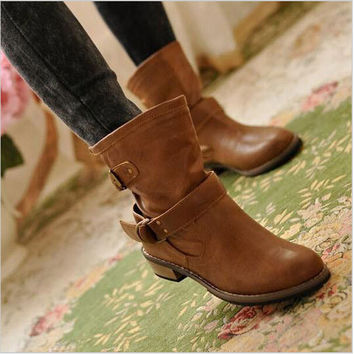 2015 new woman ladies shoes zapatos mujer chaussure women boots ankle boots bota Riding Boots Casual Ladies Martin Boots Q213