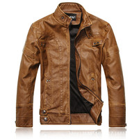 Leather Jackets Men Autumn Winter Business casual fashion coats