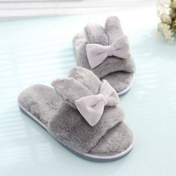 Bedroom Shoes. Fashion Gray Women Winter Warm Soft Fleece Bedroom Indoor Shoes House  Slipper Best Products on Wanelo