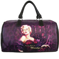 Licensed Celebrity Print Handbag Marilyn Monroe Duffle