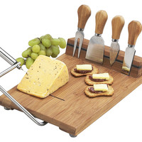 Stilton Cheese Board w/ Tools, Natural, Cheese Boards & Cheese Board Sets