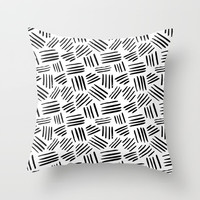 black mudcloth Throw Pillow by Sylvia Cook Photography
