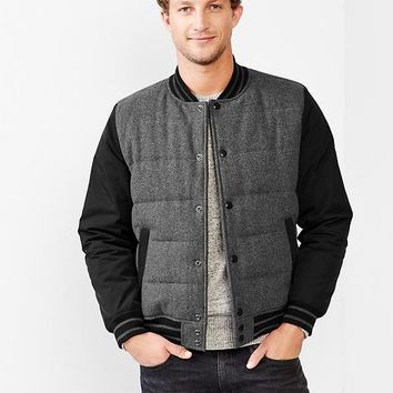 Gap Men Quilted Varsity Jacket