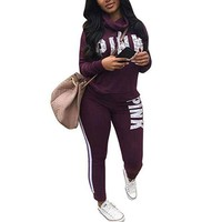 PINK Victoria's Secret Fashion Top Pullover Sweater Pants Trousers Set Two-Piece