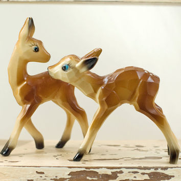 Celluloid Deer or Fawn Vintage by My3Chicks on Etsy