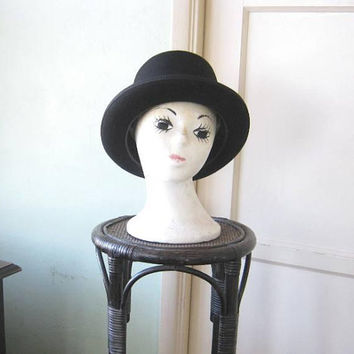 Simple Vintage Black Top Hat/Topper/Western Black Hat; Bailey's Medium Felt/Wool Hat; U.S. Shipping Included