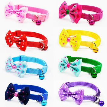 Adjustable Bow-ties and Bell Necklace Collars