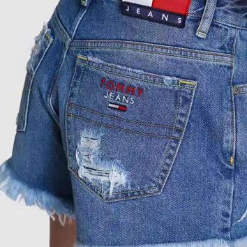 DCCKUN2 Tommy Jeans 90s High waist hole cutoff jeans