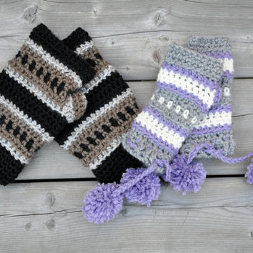 Dylan Fingerless Gloves Crochet Pattern pdf