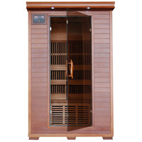 2-Person Cedar Carbon Infrared Sauna with 6 Heaters