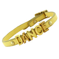 BCBGeneration Bracelet, Gold-Tone Yellow Dance Mini Affirmation Bracelet - Fashion Bracelets - Jewelry & Watches - Macy's