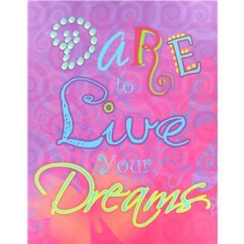 "14"" x 18"" Dare - Live - Dreams Canvas Art 