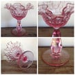 1960s Fenton Colonial Pink Thumbprint Compote