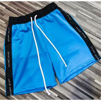 2018 New Daniel Patrick Shorts Justin Bieber Summer Blue Daniel Patrick Shorts Kanye West Streetwear Stripe Yellow Beach Shorts