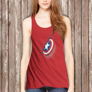 Shield Captain America Women Tanktop - tri1 Tanktop For Women  / Custom - Tanktop / Women Tanktop