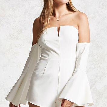 Contemporary Split Neck Romper
