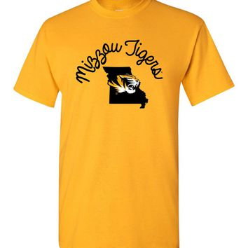 Official NCAA University of Missouri Tigers Mizzou Tigers MU Women's Short-Sleeve T-Shirt - MO-2