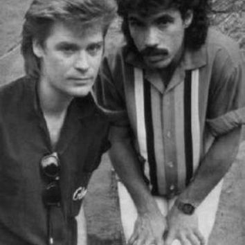 Hall And Oates Poster Standup 4inx6in black and white