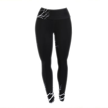 "Skye Zambrana ""Winter Black"" Yoga Leggings"