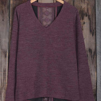 Cupshe Lace Magic Wine Knitting Top