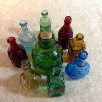 Vintage Bitters Mini Bottle Collection - Wheaton - Ball & Claw - Taiwan - Pocahontas, Jenny Lind, Liberty Bell and more - 9 Bottles in all.