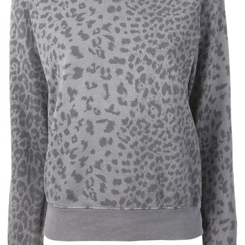 Current/Elliott leopard print sweatshirt