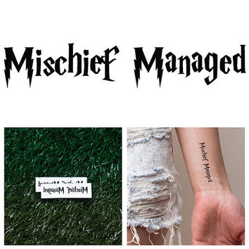 Harry Potter - Mischief Managed - Temporary Tattoo (Set of 2)