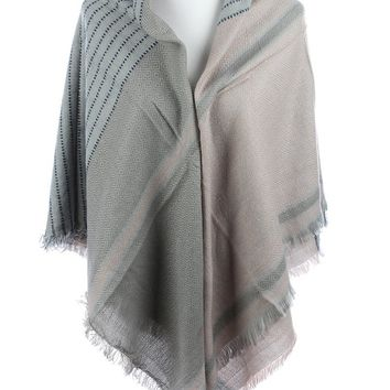 Patterned Soft Yarn Blanket Scarf 17