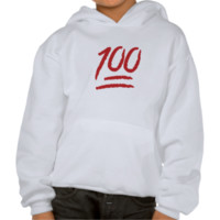 Hundred Points Symbol Emoji Hooded Pullovers