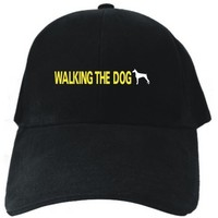 WALKING THE Dog - Doberman Pinscher Black Baseball Cap Unisex