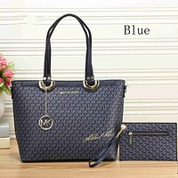 MICHAEL KORS trendy ladies shopping bag leather handbag two-piece suit F-KSPJ-BBDL Blue