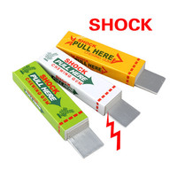Electric Shock Joke Chewing Gum Pull Head Shocking Toy Gift Gadget Prank Trick Gag Funny FCI#