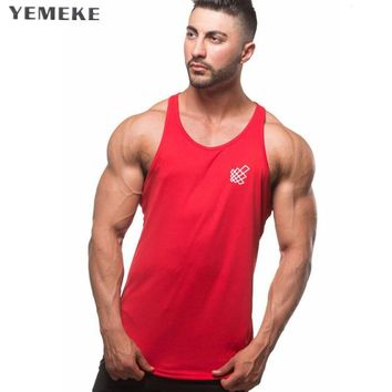 Brand Clothing Gyms tank top men Fitness Shirts Cotton Circular hem vest Workout Bodybuilding Stringer Tank top