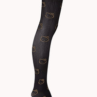 Luxe Metallic Hello Kitty Tights