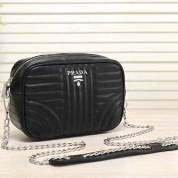 Prada New Fashion Women Leather Satchel Shoulder Bag Crossbody