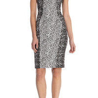 TEXTURE JACQUARD PANEL DRESS | Luxury Women's shop_all | Karen Millen