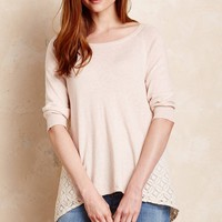 Millie Fine Lace Sweater, Blush