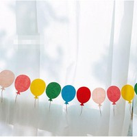 New cute balloon paper flag set / stationery set