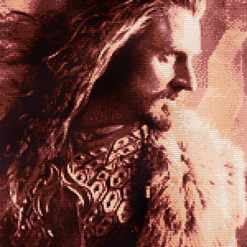 Thorin Oakenshield Cross Stitch Pattern (Large)