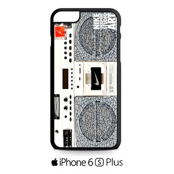Nike Air Jordan Radio Boombox iPhone 6S  Plus  Case