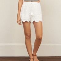 Crochet Lace Soft Shorts