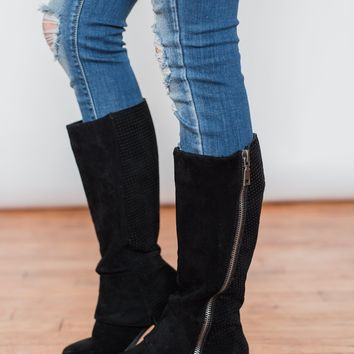 Very G Unstructured Boots- Black