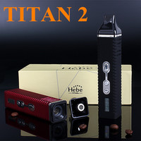Electronic Cigarette Dry Herb Vaporizer Titan 2 Hebe Kit E Cigarette Vape Pen Mechanical Herbal Vaporizer Wax Weed Vapor X2017