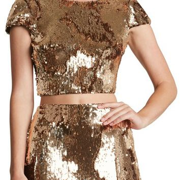 Dress the Population 'Gigi' Scoop Back Sequin Crop Top | Nordstrom