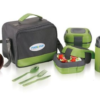 Pinnacle Fresh 'N' Go Leakproof Thermo Lunch Kit Green