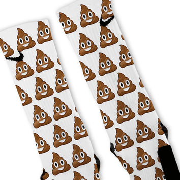 Poop Emoji Custom Nike Elite Socks